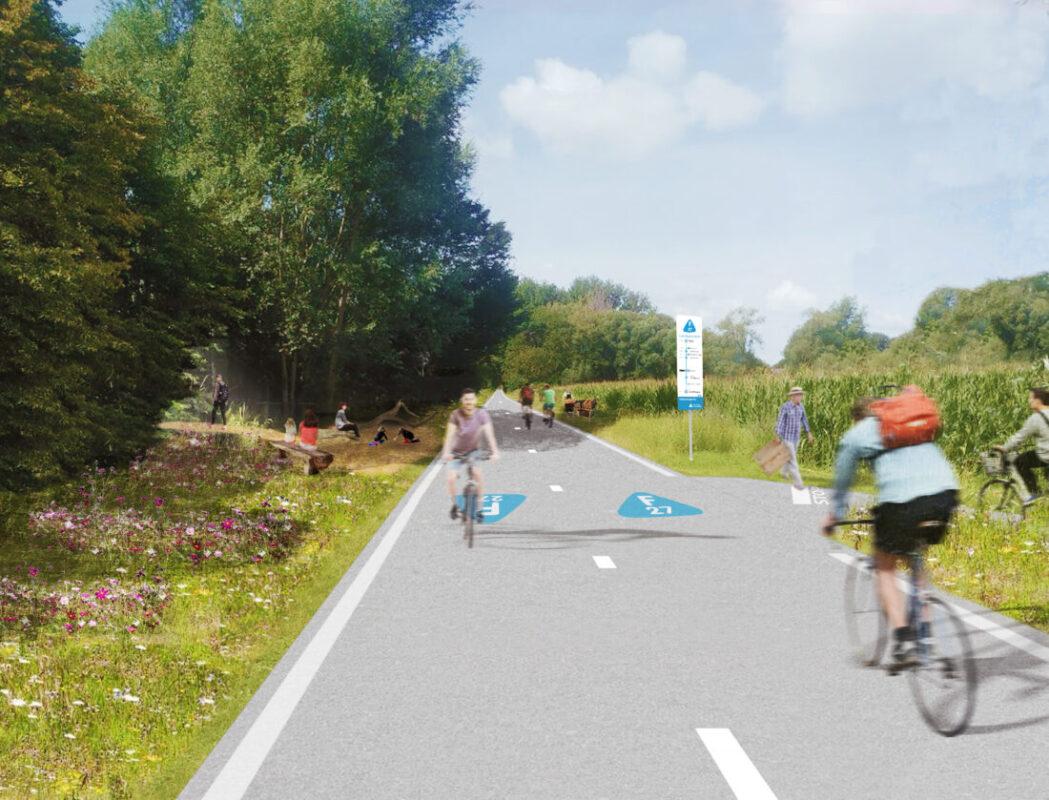 Leirekensroute wordt omgevormd van populaire route tot groene fietssnelweg