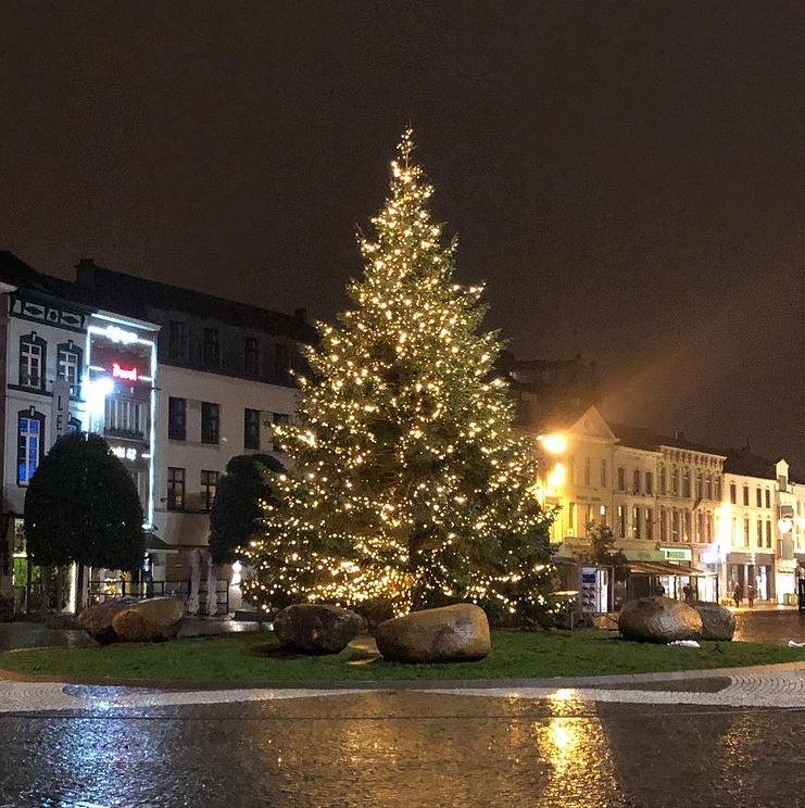 Versierde kerstboom pronkt op Grote Markt