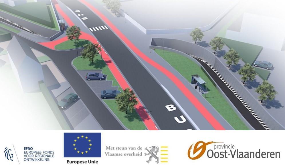 Nieuwe fietstunnel in Moorselbaan gaat open op 15 augustus